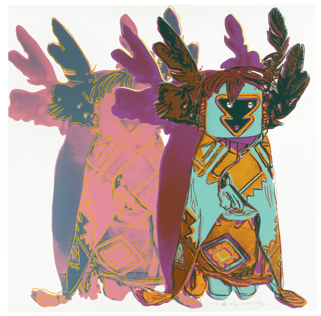 Andy Warhol, 'Kachina Dolls', 1986, Print, Unique color screenprint on Lenox Museum Board, John Moran Auctioneers