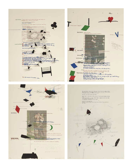 Terry Allen, 'Debris from the Text (R/I/N/G) (four works)', 1981, Heritage Auctions