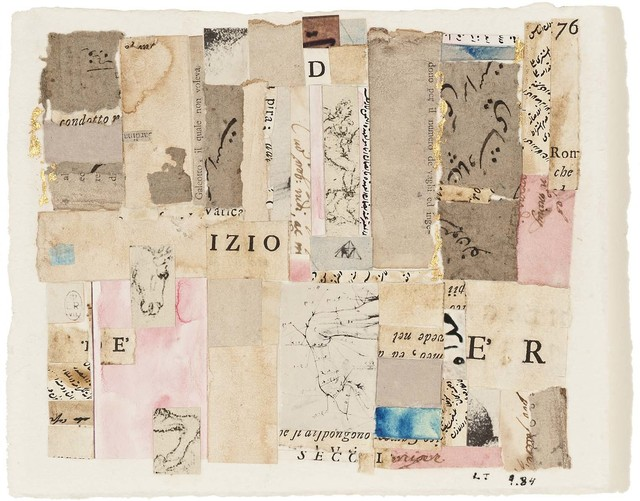 Lenore Tawney, 'Izio', 1984, Drawing, Collage or other Work on Paper, Collage of various printed and cut papers, watercolor, ink, Michael Rosenfeld Gallery