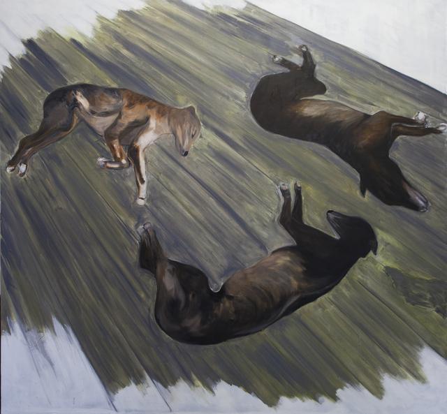 , 'Dogs (lying),' 2016, Galerie Bart