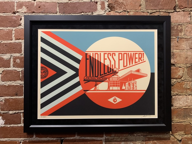 Shepard Fairey, 'Endless Power Petrol Palace (Red)', 2019, Mason-Nordgauer Fine Arts Gallery