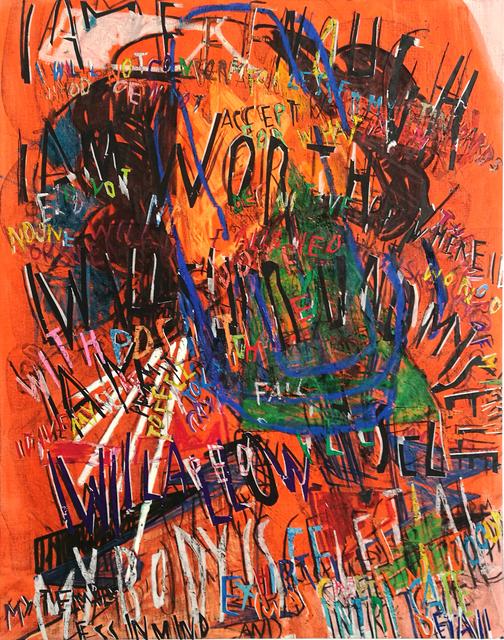 , 'RGB Affirmations (orange),' 2018, Dio Horia