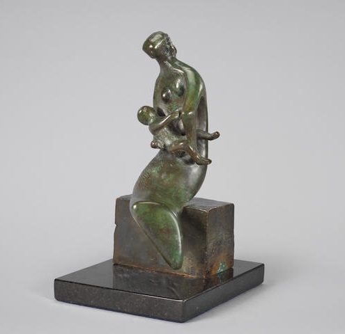 , 'Maquette for Curved Mother and Child,' 1980, Osborne Samuel