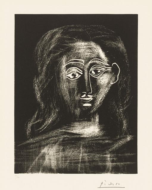 Pablo Picasso, 'Jacqueline aux cheveux flous, en buste', 1962, Print, Linocut on Arches wove paper, Christie's
