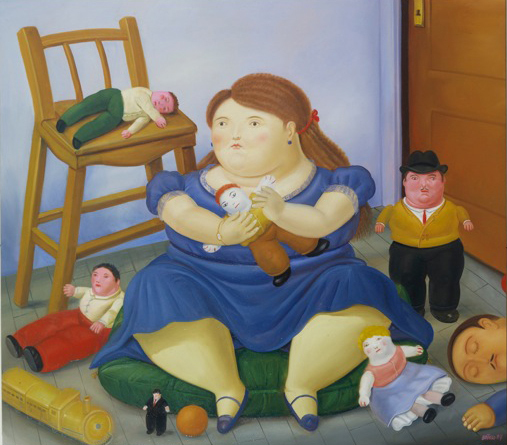 , 'Girl with toys,' 1984, Fernando Pradilla/El Museo