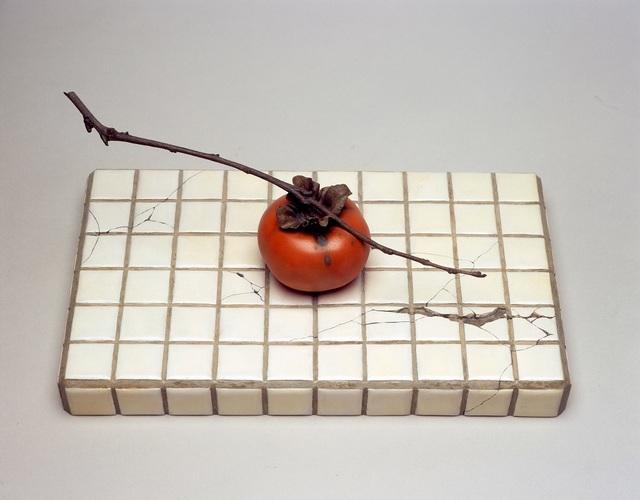 Fuyuki Maehara, 'Ikkoku -tiles and a persimmon-', 2006, SEIZAN Gallery