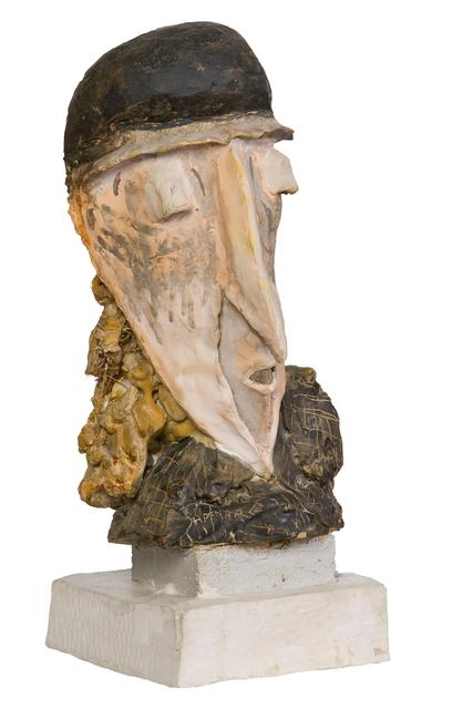 Kurt Hüpfner, 'Old Woman', 1993, Sculpture, Terracotta, engobe, plaster of paris, seaweed, pigments, oil, Galerie Dantendorfer