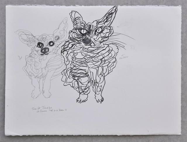 , 'Taco et Toodles,' 2016, IFAC Arts