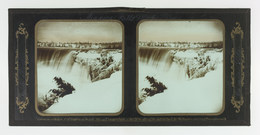 Frederick and William Langenheim, 'Niagara Falls Winter Views, Table Rock, Canada Side', 1850-1854, Photography, Glass stereoview, Cooper Hewitt, Smithsonian Design Museum