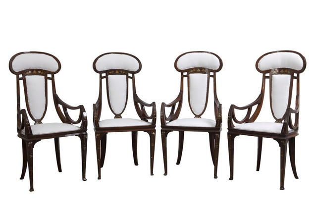 , 'Four Armchairs,' 1902, Galleria Rossella Colombari