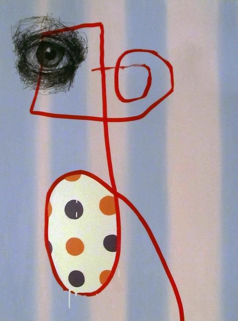 , 'Untitled Marker Portrait with Two Purple Dots,' 2013, envoy enterprises