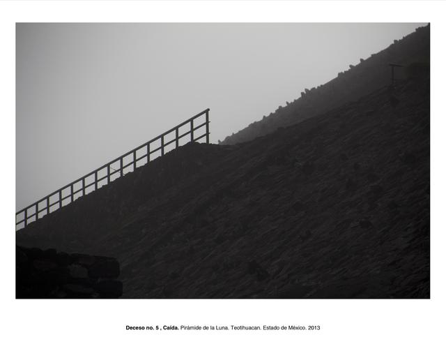 """, 'Deceso no. 5, Caída. Pirámide del Sol, Teotihuacán, Estado de México (from the series """"Forensic Documents""""),' 2013, LaCa Projects"""