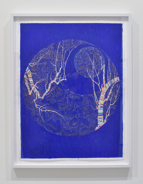 , 'Night Tree Blue 1,' 2017, Joshua Liner Gallery