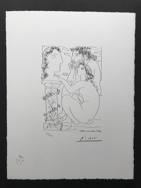 Pablo Picasso, 'Sculpteur avec son modèle et sa sculpture (Suite Vollard Planche XLV)', 1973, ByNewArt