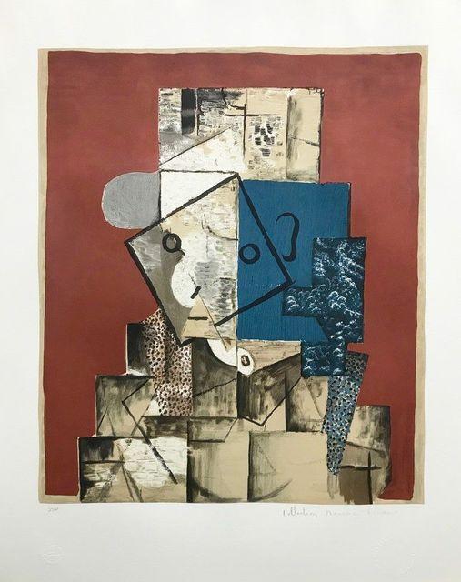 Pablo Picasso, 'Visage sur fond Rouge, 1914 ', 1982, Cerbera Gallery