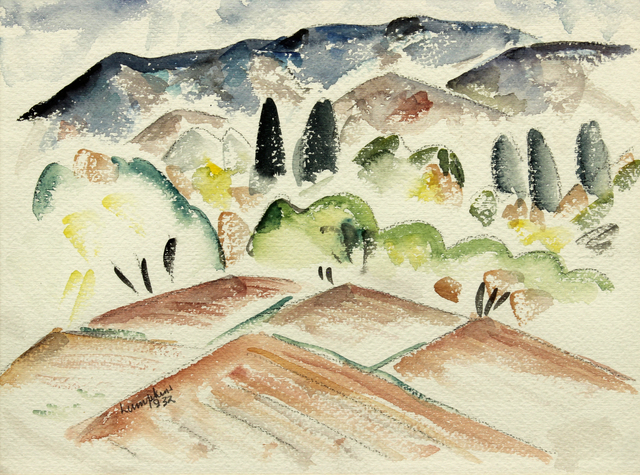 William Thomas Lumpkins, 'North of the Capitans ', 1932, Painting, Watercolor on paper, Addison Rowe Gallery