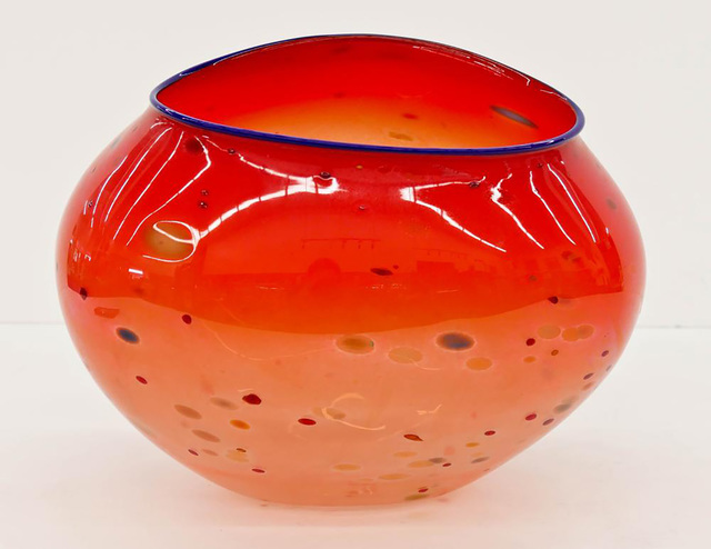 Dale Chihuly, 'Authentic Large Hand Blown Glass Sculpture Red Basket Signed Dated', 1995, Modern Artifact