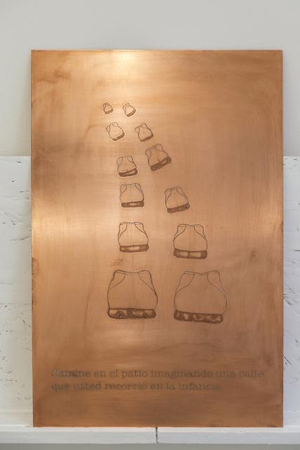 Jhafis Quintero, 'Maximas de Seguridad pag 29 Cobre', 2016, Sculpture, Acid treated copper sheet, Diablo Rosso