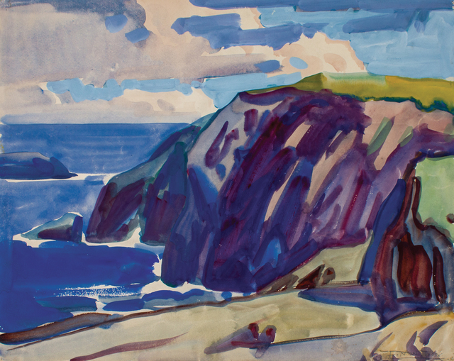 , 'Cliff at Paramé, France,' ca. 1926, WOLFS