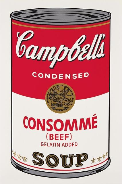 Andy Warhol, 'Consomme Beef Campbells Soup', 1968, OSME Fine Art