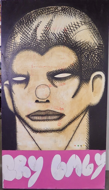 Armando Lerma, 'Cry Baby', 2018, Painting, Mixed media on Wood, Eastern Projects
