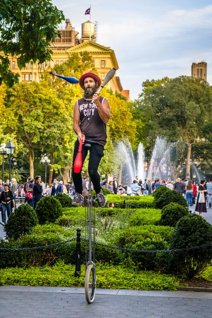 , 'Toss Up, Washington Square Park,' 2019, The Galleries at Salmagundi