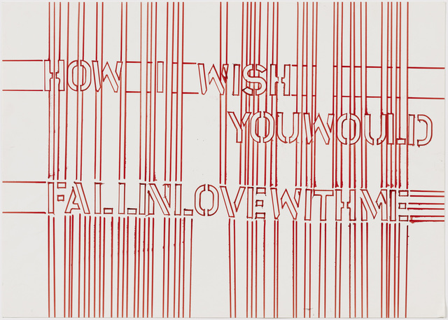 , 'How I Wish You Would Fall in Love with Me,' 2001, Galerie Peter Kilchmann