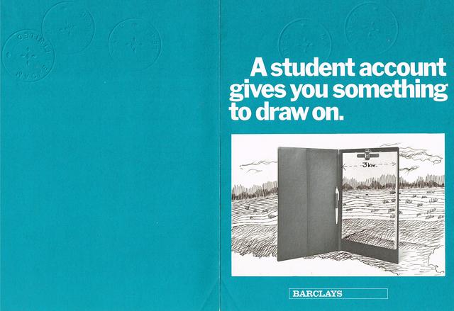 , 'Student account,' 1971, Baró Galeria