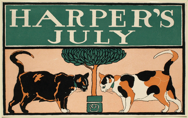 Edward Penfield, 'Two Cats and a Tree, July Harper's', 1885-1915, Clark Art Institute