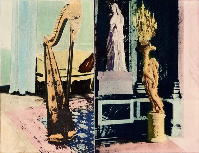 Susan Baran, 'Baroque Harp (small version)', 2013, Print, Photopolymer intaglio a la poupée, Sydney Printmakers