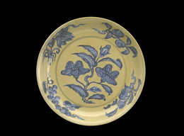'Yellow Dish with Blue Flowers', 1488-1505, Indianapolis Museum of Art at Newfields
