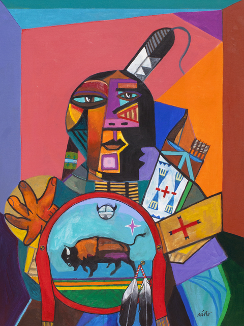 , 'Yellow Thunder with Buffalo Shield ,' 2018, Ventana Fine Art