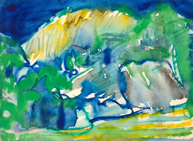 Romare Bearden, 'UNTITLED (LANDSCAPE)', Drawing, Collage or other Work on Paper, Watercolor on Paper, Jerald Melberg Gallery