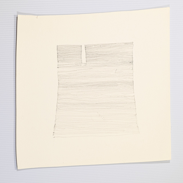 Elizabeth Youngblood, 'Striated Blue', 2020, Drawing, Collage or other Work on Paper, Ink on paper, M Contemporary Art