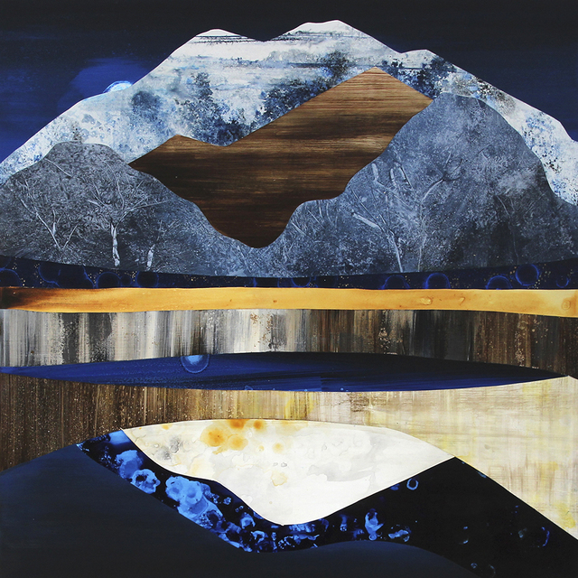 Sarah Winkler, 'Moonrise Mountain', 2021, Painting, Acrylic on board, Foster/White Gallery