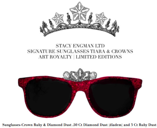 , 'Sunglasses-Crown Ruby & Diamond Dust .50 Ct Diamond Dust (diadem) and 3 Ct Ruby Dust,' , ART CAPSUL