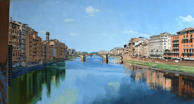 , 'Study: View of the River Arno from Ponte Vecchio Bridge, Florence,' , Plus One Gallery