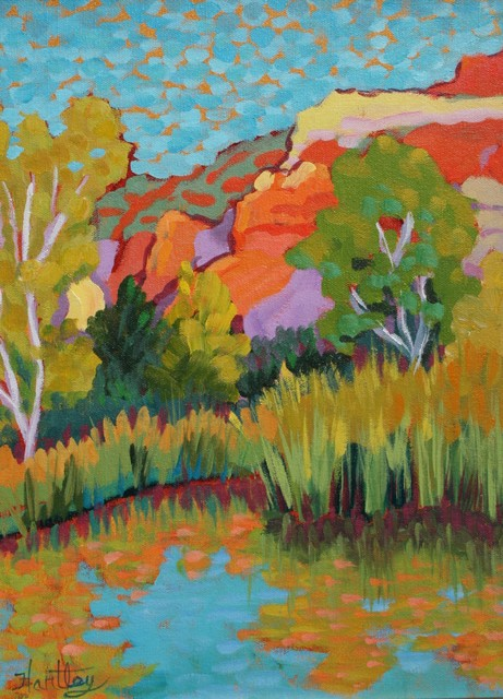 ", '""Cottonwoods and Reeds"",' , Bonner David Galleries"