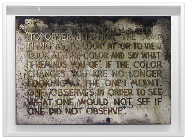 Mel Bochner, 'If The Color Changes...', 2018, Krakow Witkin Gallery