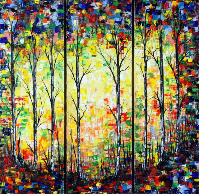 , 'Riflessi Tra Gli Alberi - Triptych,' 2016, Bitfactory Gallery