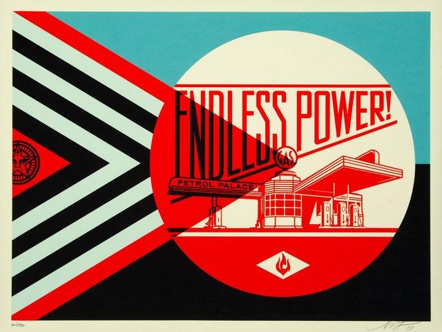 Shepard Fairey, 'Endless Power Petrol Palace (Blue)', 2019, Heritage Auctions