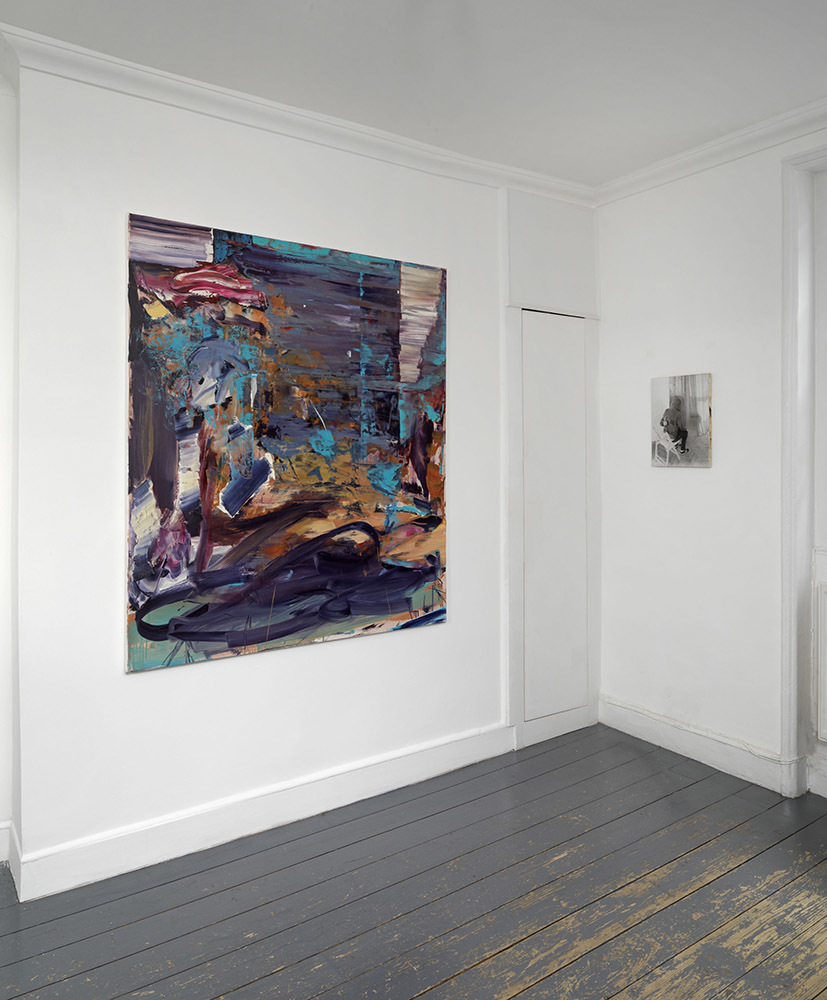 'Dark Smoke' installation view, works by Dan Maciuca and Dan Beudean.