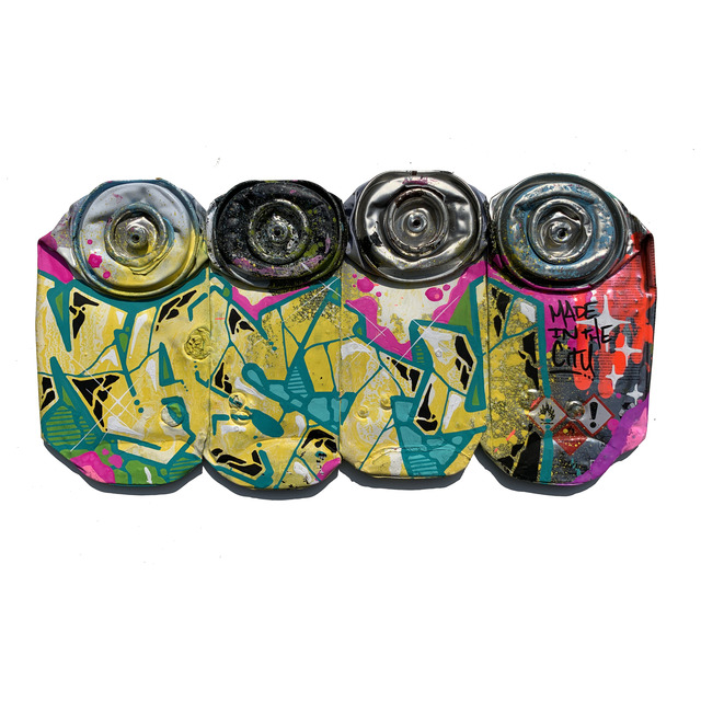 , ' CRASHED SPRAYCANS 2,' 2019, Happy Gallery