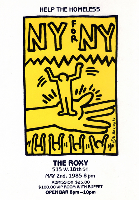 Keith Haring, 'Keith Haring NY for NY benefit announcement ', 1985, Lot 180