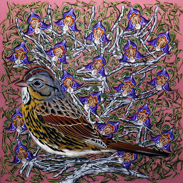 Kevin Veara, 'Exult #41 - Lincoln Sparrow', 2018, Springfield Art Association