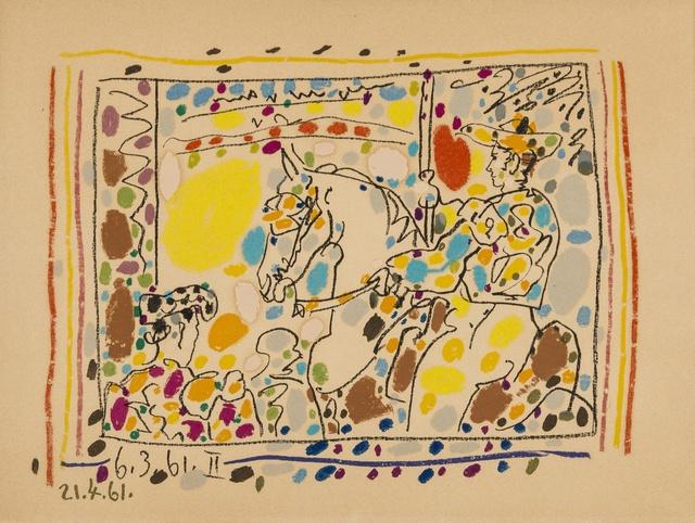 Pablo Picasso, 'Four plates, from A los Toros avec Picasso (Bloch 1014-47; Cramer 113)', 1961, Forum Auctions