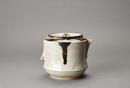 Miraku Kamei XV, 'Water container (mizusashi) with ceramic lid , white glaze', Design/Decorative Art, Stoneware, Pucker Gallery