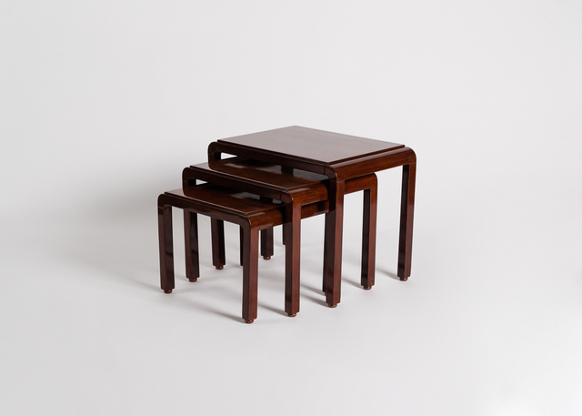 , 'Set of three lacquered nesting tables,' ca. 1925, Maison Gerard