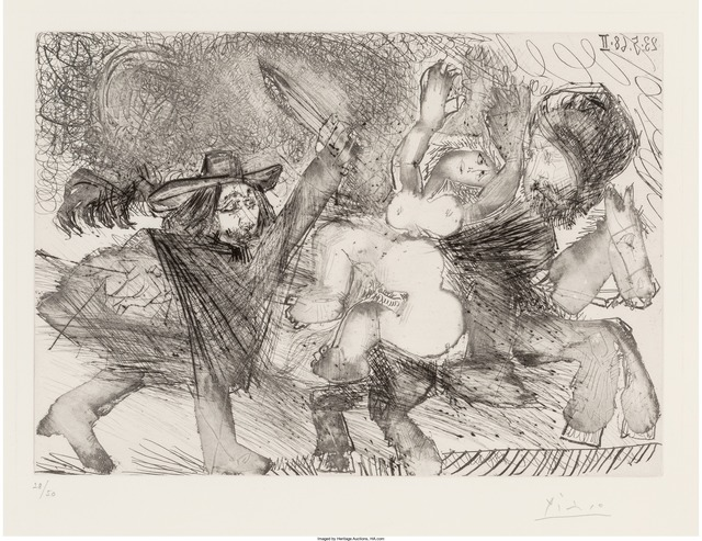 Pablo Picasso, 'Mameluk enlevant une femme, pl. 106, from Séries 347', 1968, Heritage Auctions