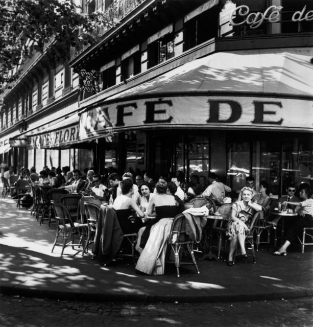 , 'St. Germain Des Près, Outside the Cafe de Flore. Paris, France. ,' 1952, Magnum Photos
